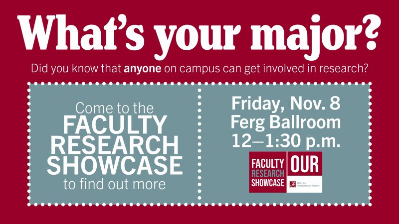 Faculty Research Showcase- Everyone welcome